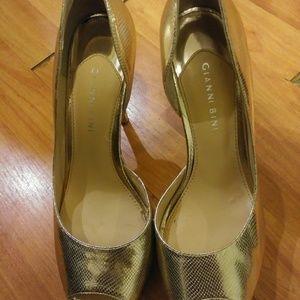 Gianni bini gold shoes sz 8